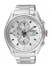 OF Collection CA0360-58A Orologio Uomo Crono Acciaio Citizen Eco Drive 44mm