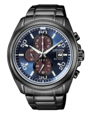 Chrono Racing-OF Collection CA0635-86L Orologio Crono Acciaio IP Nero Citizen Eco Drive 44mm