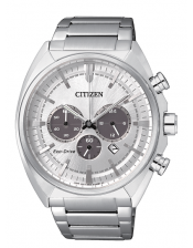 OF Collection  CA4280-53A Orologio Crono Acciaio Citizen Eco Drive 43mm