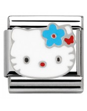 Ikons Hello Kitty Fiore Celeste-Tessera Composable Classic-Nomination-230290 01