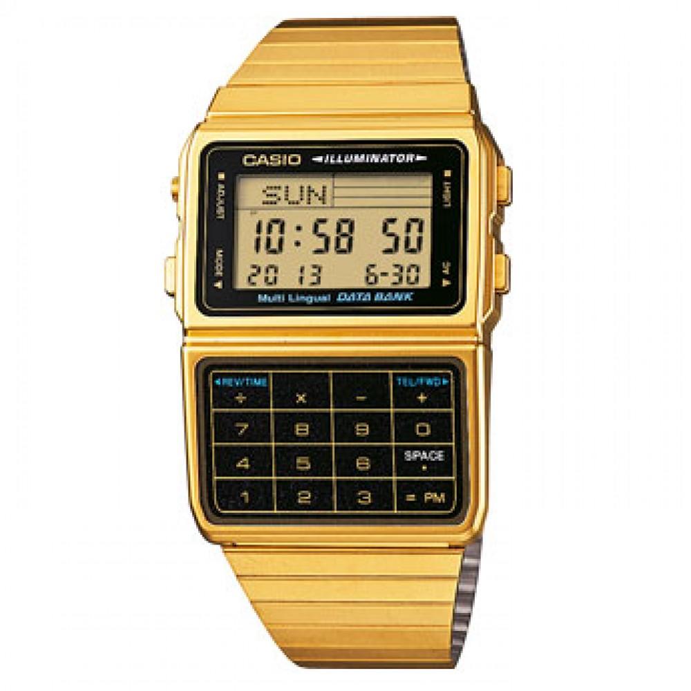 Casio Collection-Data Bank-46,50x33,10mm-Casio-Orologio Uomo Laminato Multifunzione Digitale Quarzo-DBC-611GE-1EF
