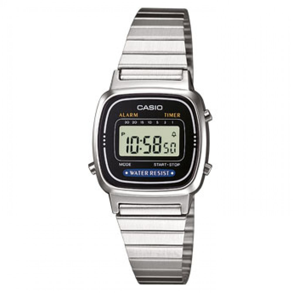 Retrò Donna-30,30x24,60mm-Casio Collection-Casio-Orologio Donna Acciaio Digitale Quarzo-LA670WEA-1EF
