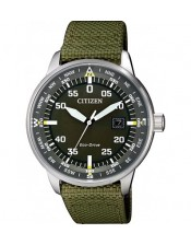 Aviator-OF Collection-BM7390-22X-Orologio Uomo Acciaio Citizen Eco Drive-42mm