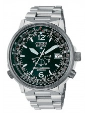 Radio Controllato-AS2031-57E-Orologio Uomo Pilot Titanio Citizen Eco Drive-44mm