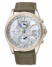 Lady RadioControllato-39mm-Citizen-Orologio Donna Laminato Eco Drive-FC0016-08D