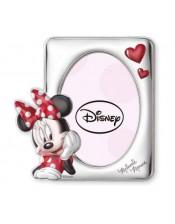 Cornice 12x17 Minnie Mouse per Femminuccia-Argento Bilaminato-Disney-3D-Smaltata- Sovrani-D236 4LRA